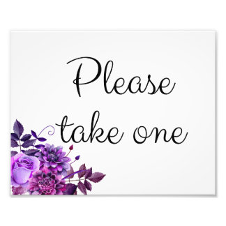 Foto Púrpura floral de la muestra del boda. Tome por