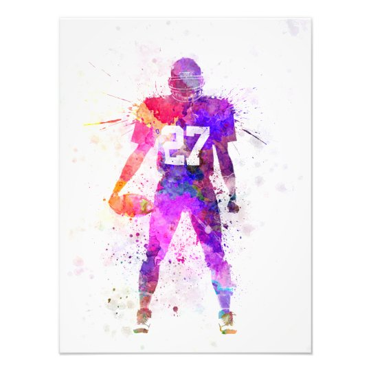 Foto quarterback american football player man