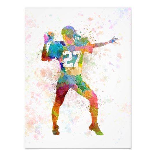 Foto quarterback american throwing football player man