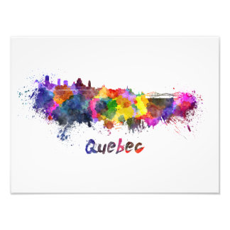 Foto Quebec skyline in watercolor