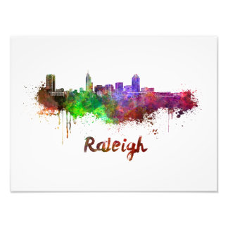 Foto Raleigh skyline in watercolor