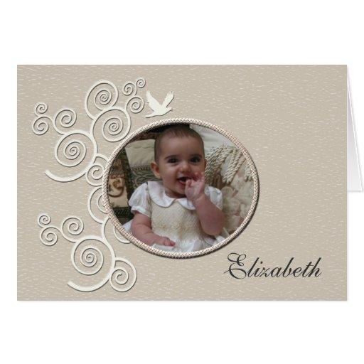 Foto religiosa Notecard de la paloma del blanco Tarjeta de Zazzle.