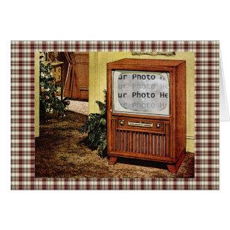 Foto retra de los años 50 TV Tarjeta De Felicitación