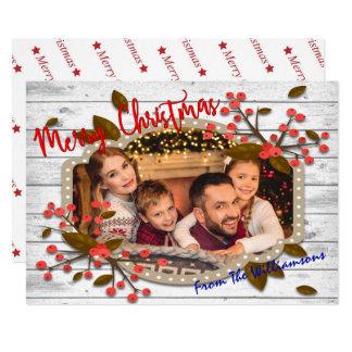 Foto retra del marco del navidad invitación 12,7 x 17,8 cm