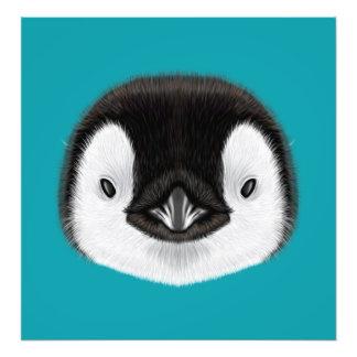 Foto Retrato ilustrado del polluelo del pingüino de