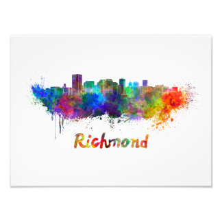 Foto Richmond skyline in watercolor