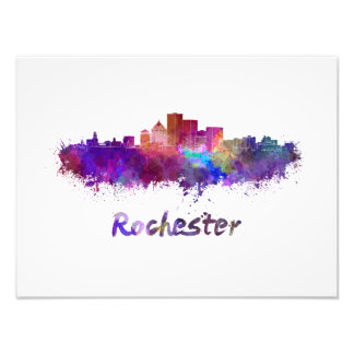 Foto Rochester skyline in watercolor