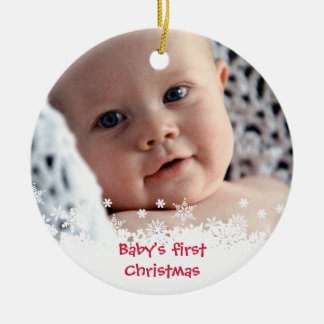 Foto roja del personalizado del niño del pan de je ornamente de reyes