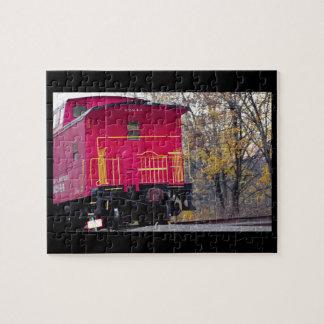 Foto roja del tren del Caboose Puzzle