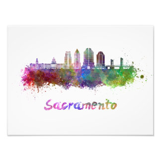 Foto Sacramento V2 skyline in watercolor