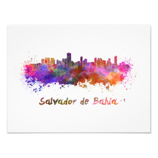 Foto Salvador de Bahia skyline in watercolor