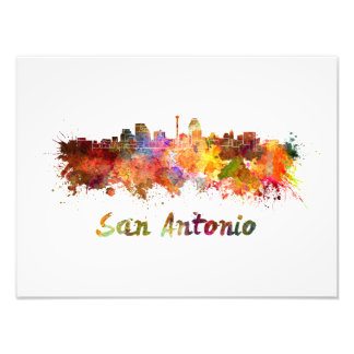 Foto San Antonio skyline in watercolor