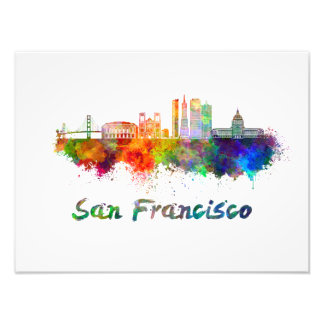 Foto San Francisco V2 skyline in watercolor copia