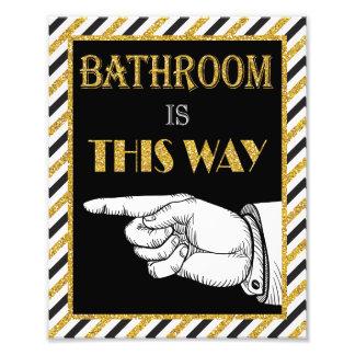 Foto Señal de dirección del cuarto de baño (izquierda)