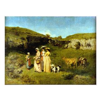 Foto Señoras jovenes de Gustave Courbet del pueblo