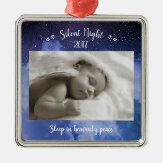 Foto silenciosa de la noche - ornamento cuadrado