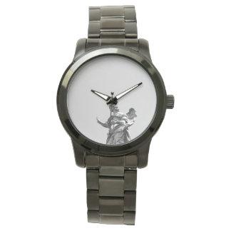 Foto simple, moderna de la gaviota encima de la reloj