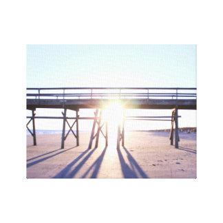Foto soleada de la playa impresión en lienzo