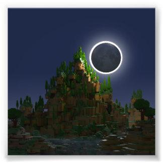 Foto Sombra del arte polivinílico bajo de Voxel de la