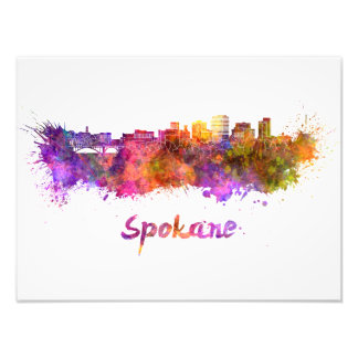 Foto Spokane skyline in watercolor
