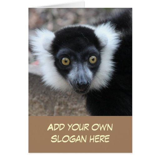 Foto superada divertida del Lemur para modificarse Felicitacion