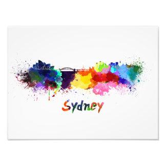 Foto Sydney skyline in watercolor