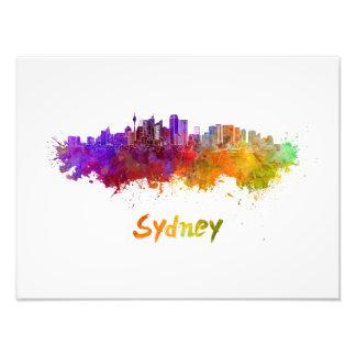 Foto Sydney v2 skyline in watercolor