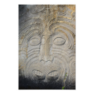 Foto Tallas maoríes de la roca en el lago Taupo