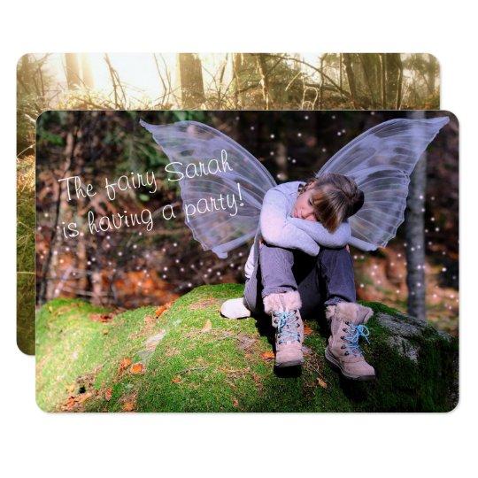 Foto temática de hadas de la fiesta de cumpleaños invitación 12,7 x 17,8 cm