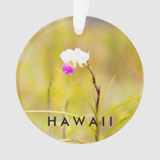 Foto/texto tropicales de la flor 2 de Hawaii Adorno