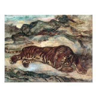 Foto Tigre del Barye de Antoine-Louis en descanso