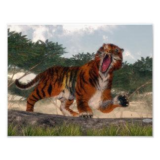Foto Tigre que ruge - 3D rinden