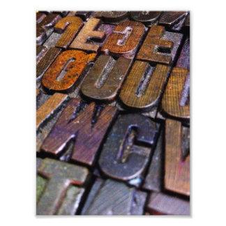 Foto tipo textura de la prensa de copiar del vintage