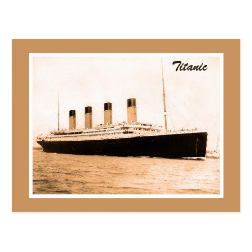 Foto titánica del arte de la sepia tarjeta postal