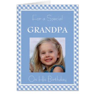 Foto todo sobre mi abuelo tarjeta de felicitación