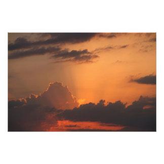 Foto Tonalidades del sävyt de la puesta del sol/de