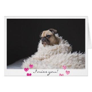 Foto triste del perro del barro amasado del el día tarjeta de felicitación