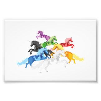 Foto Unicornios salvajes coloridos del ejemplo