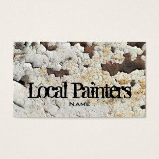 Foto vieja de la textura de la pintura tarjeta de negocios