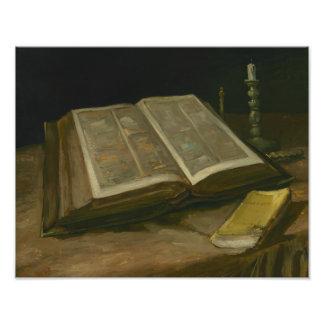 Foto Vincent van Gogh - todavía vida con la biblia