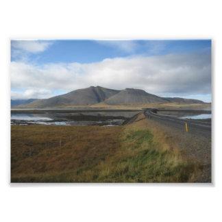 Foto volcánica de las colinas (Islandia)