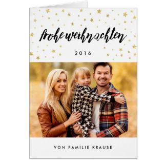 Foto Weihnachtskarte el | Goldsterne Tarjeta De Felicitación