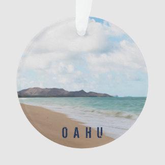 Foto y texto tropicales de la playa 2 de Oahu Adorno