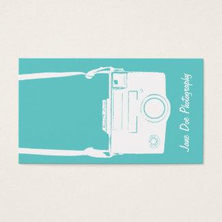 Fotografía blanca de la cámara de la película del tarjeta de negocios