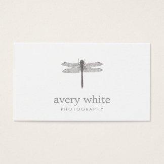 Fotografía blanca simple del profesional de la tarjeta de negocios