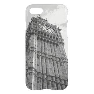 Fotografía blanco y negro de Big Ben, Londres Funda Para iPhone 7