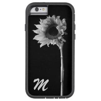 Fotografía blanco y negro del girasol adaptable funda tough xtreme iPhone 6