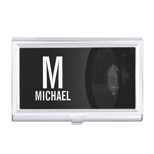 Fotografía blanco y negro profesional caja para tarjetas de visita