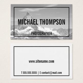 Fotografía blanco y negro profesional tarjeta de visita