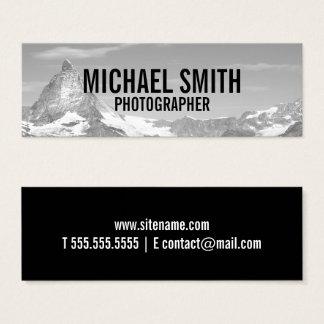 Fotografía blanco y negro profesional tarjeta de visita mini